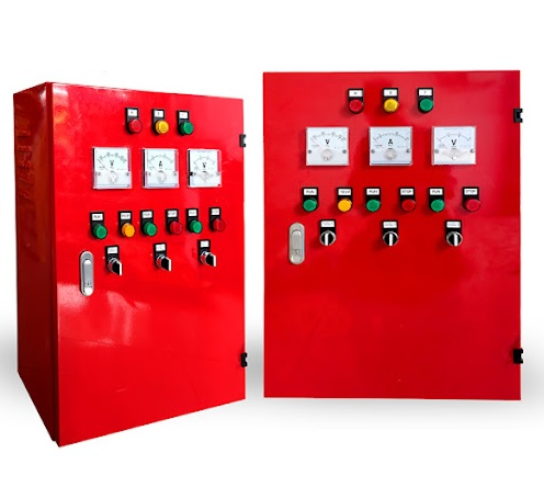 Fire protection control cabinet