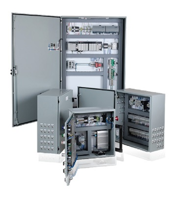 System control panel with PLC